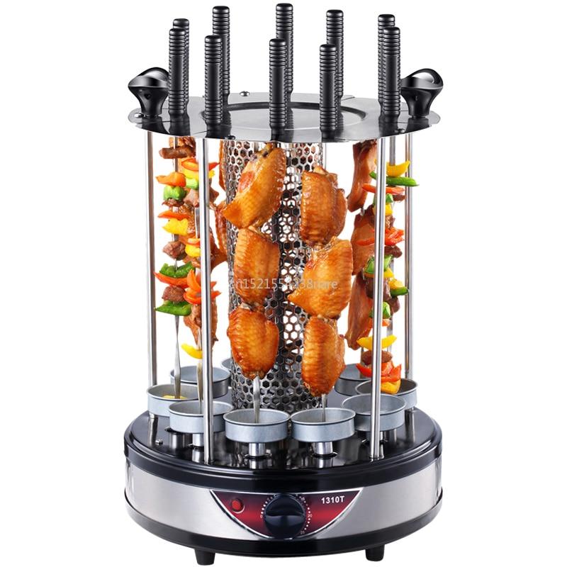 Horno eléctrico hogar sin humo barbacoa parrilla automática giratoria pincho parrilla kebab taza de barbacoa
