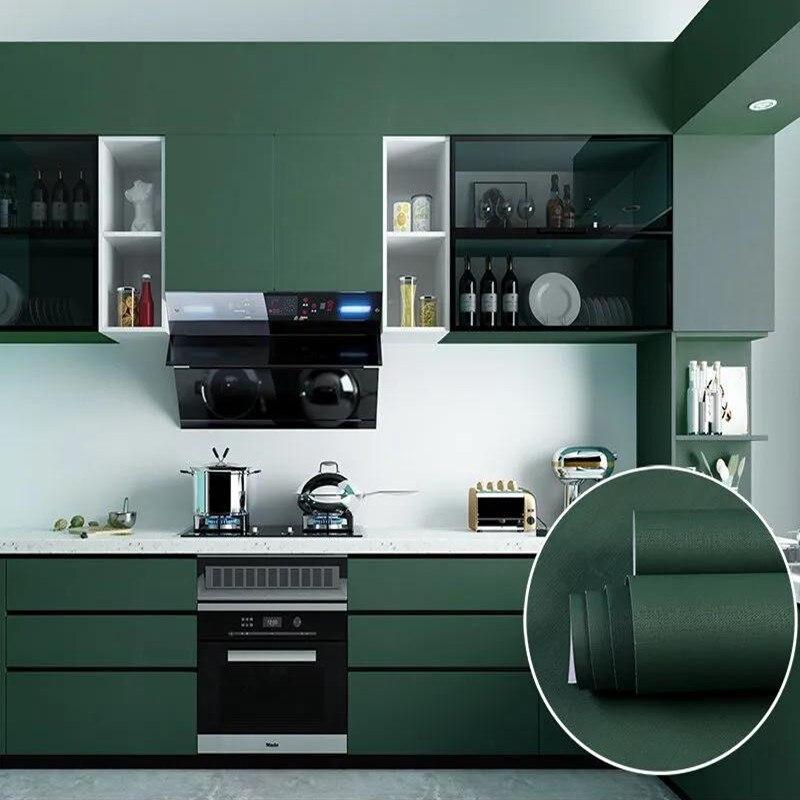 Декоративная пленка ПВХ, самоклеющаяся бумага стены мебельные Обои Обновления наклейки для кухонных шкафов, Водонепроницаемый обои