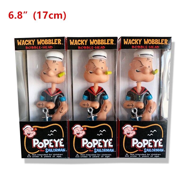 """6,8 """"Popeye cabeza vintage loco wobbler de oso de PVC muñeca figuras de acción de juguete de ladrillo anime joker roblox 2020 nuevo"""