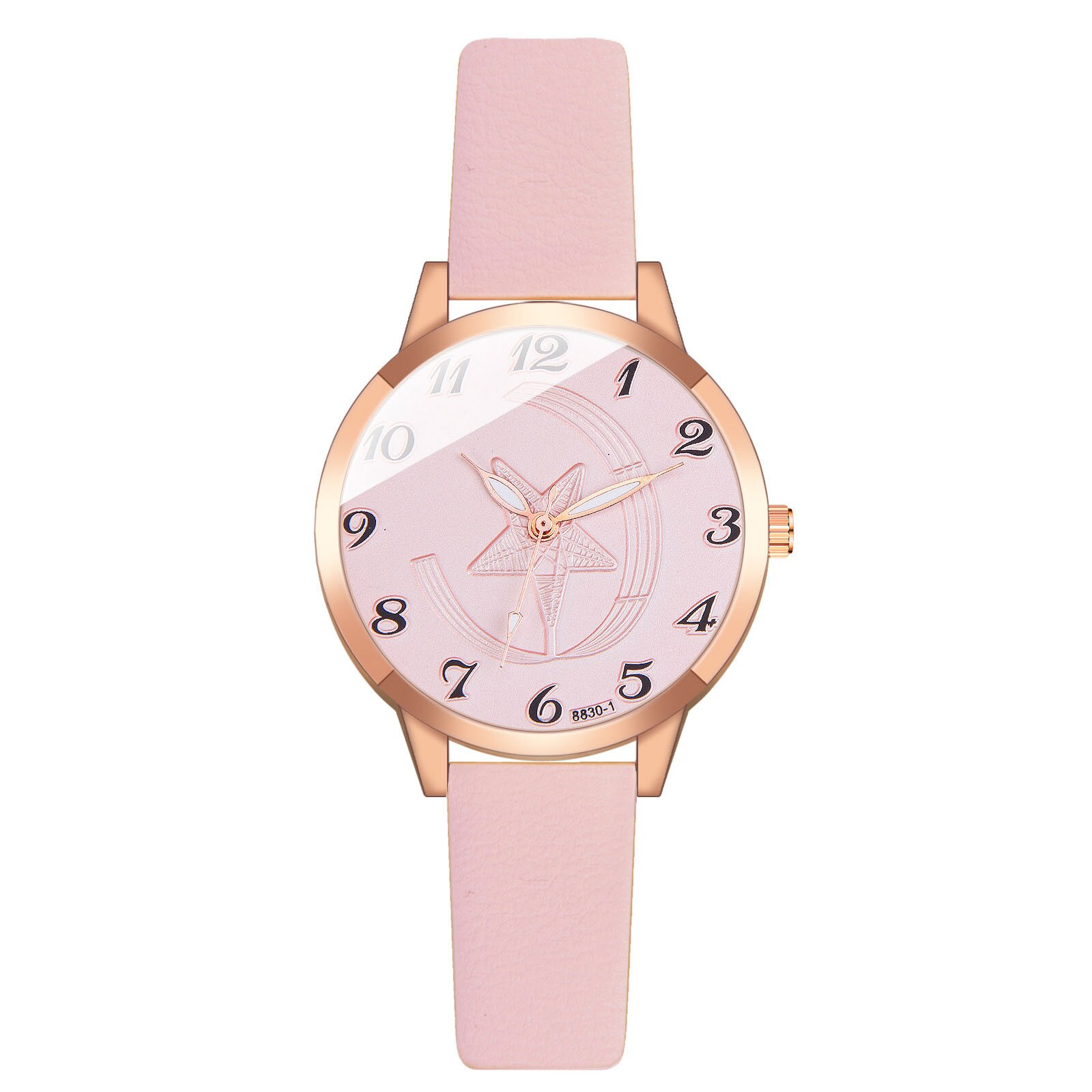 36x36mm JXS03 Ladies Quartz Watch Leather Strap Rotating Watch Suitable as a gift for mothers and lo