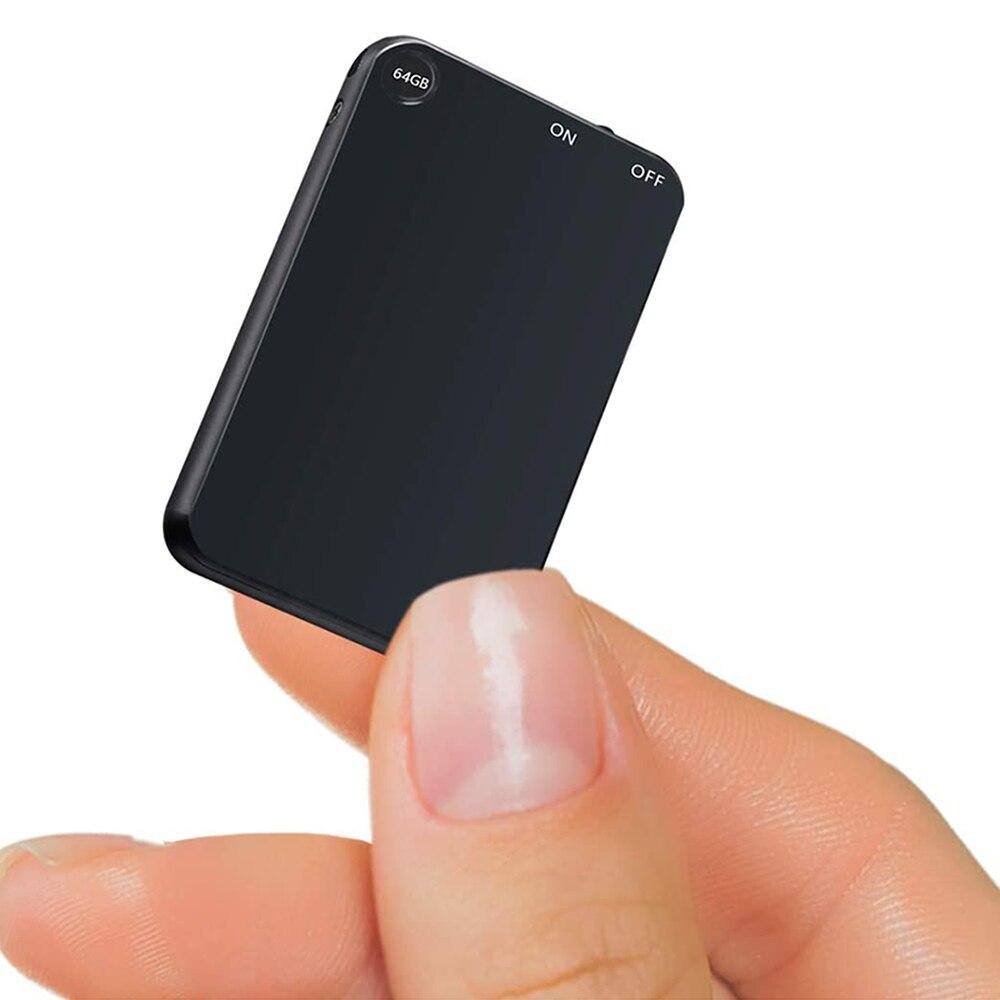 V15 300mAh فلاشة مزودة بفتحة يو إس بي 64G مسجلات تنشيط صوت رقمي فائق النحافة جسم صغير 50H جهاز تسجيل الصوت الإملاء المستمر