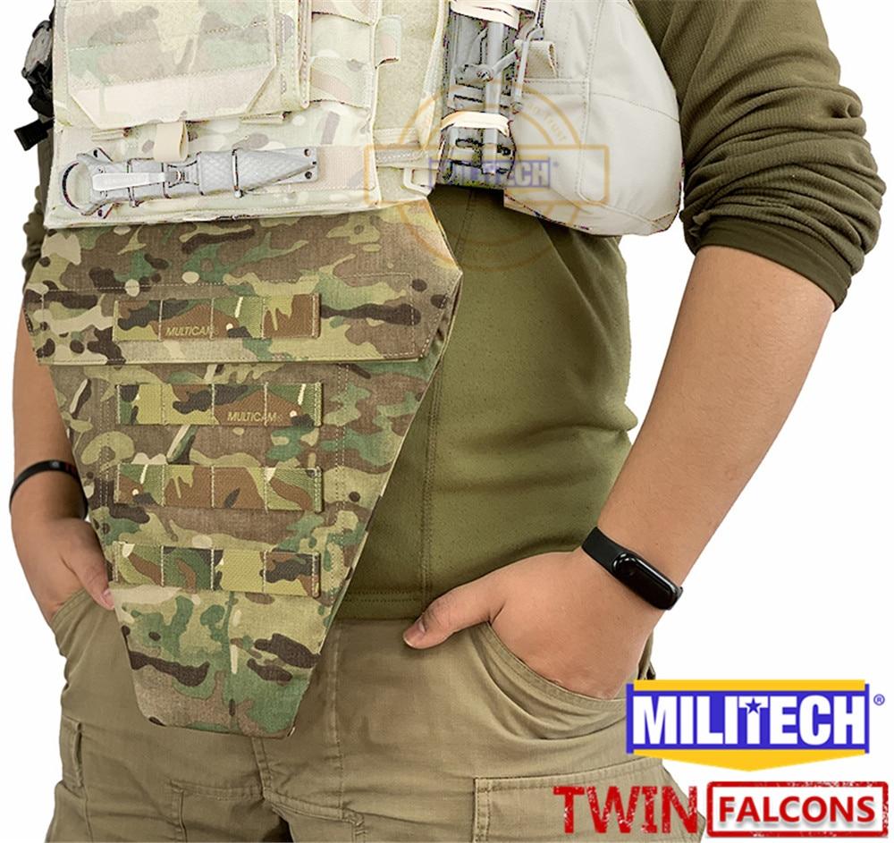 MILITECH TWINFALCONS TW 500D Delustered Cordura T Y R Tactical Groin Protection MV Lower Abdomen Platform Pouch Groin Bag