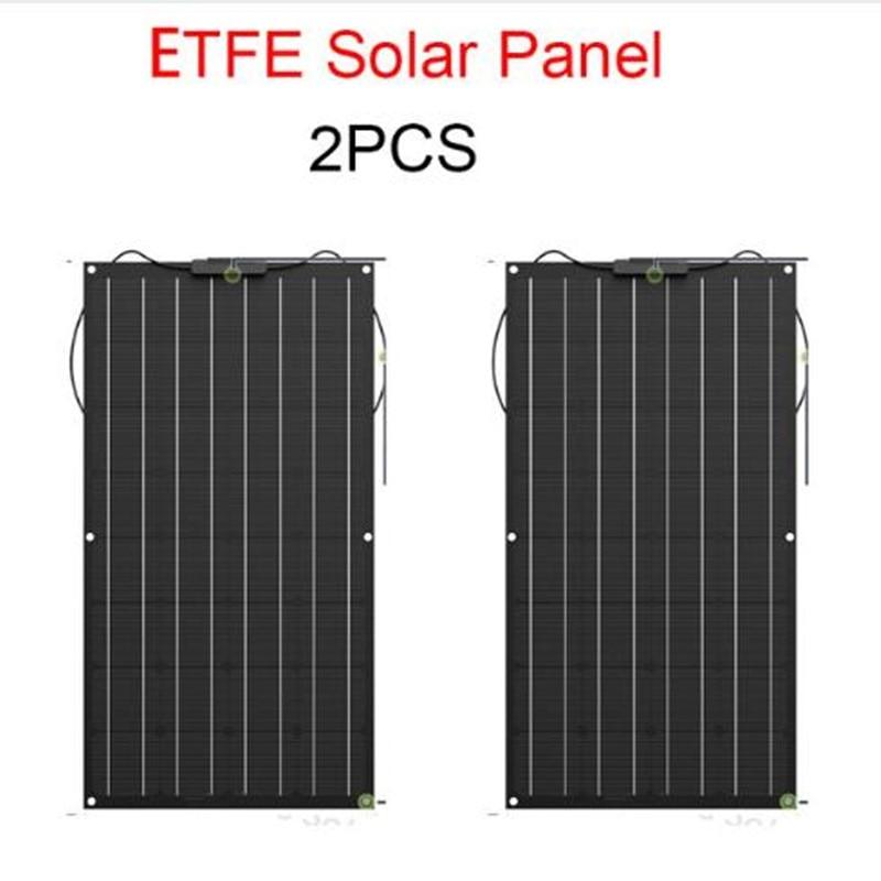 Panel solar 2x100w ETFE flexible panel solar 200w panel solar flexible de ETFE material