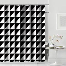 Cortina de Ducha moderna Baiyun, mosaico geométrico, cortinas de baño impermeables para baño, cubierta de baño, Extra grande