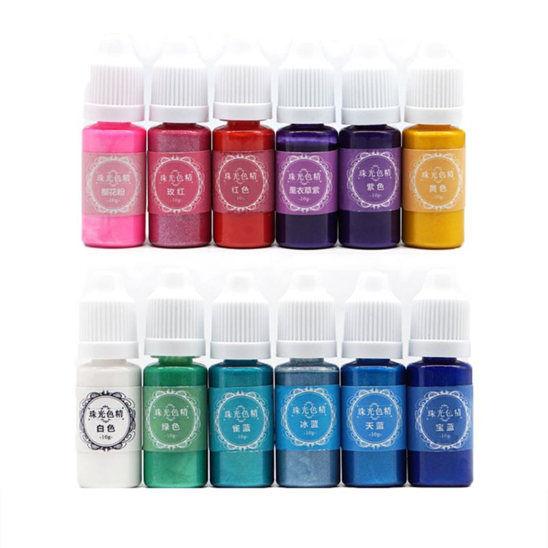 DIY hecho a mano AB resina colorante adhesivo colorante Epoxy Color fino polvos nacarados cristal molde Accesorios