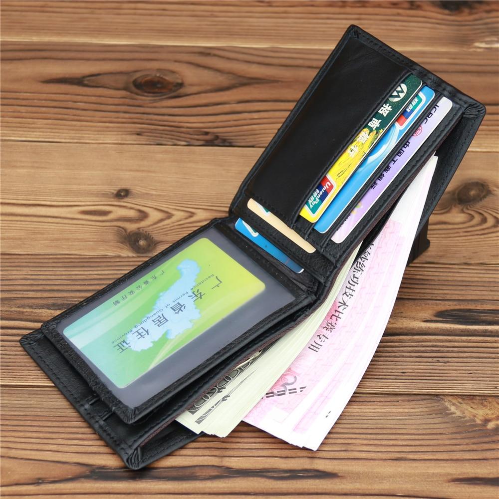 1548 NEWEEKEND Male Genuine Leather Wallets Men Wallet Credit Business Card Holders Vintage Brown Le