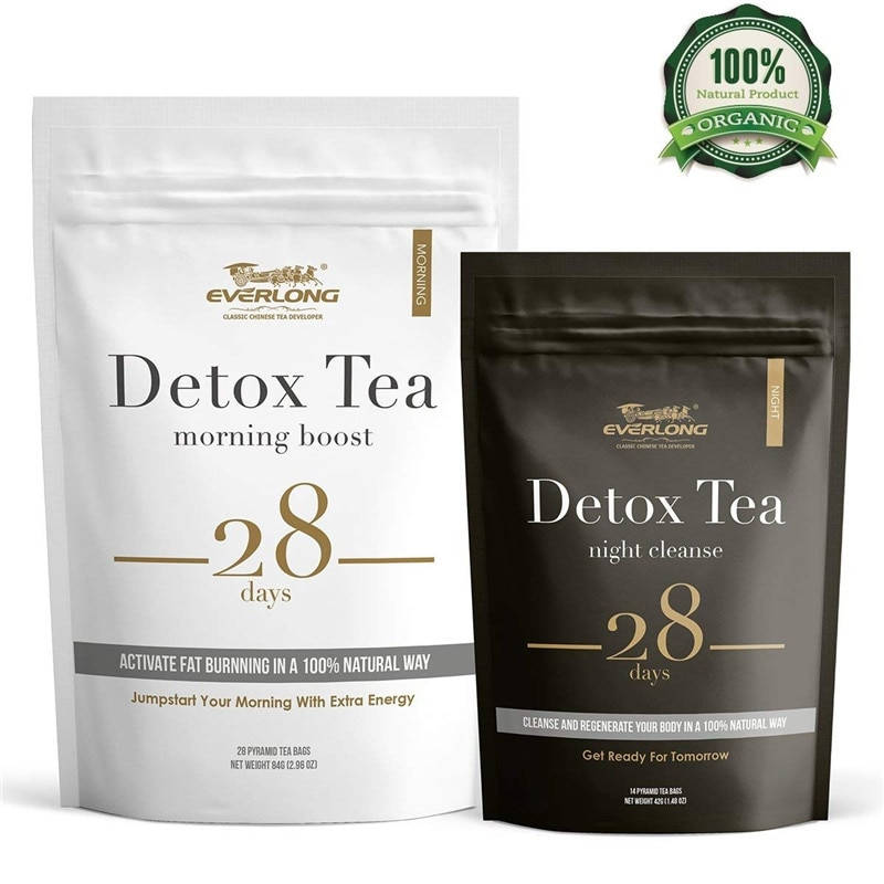 GPGPGreenpeople 28 Days Evening & Morning Detox Tea Burning Fat Colon Cleanse Flat Belly Natural B