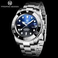 pagrne design top brand watch 40mm men mechanical watch luxury automatic 100m waterproof watch japan nh35 men clock montre homme
