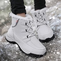 womens winter shoes female boot white heels female sneakers flat shoes for women anti snow non slip hiking outdoor warm shoes
