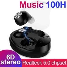 Auriculares inalámbricos X28 TWS 5,0 True 6D estéreo X28 Bluetooth auriculares Mini TWS impermeables con caja de carga de 800mAh