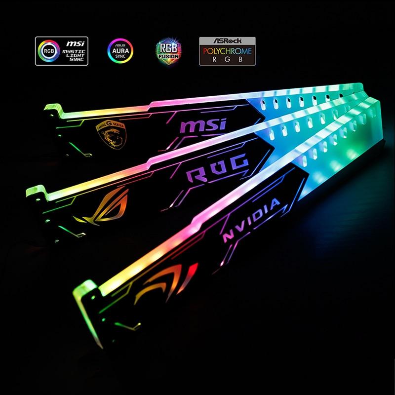GPU قوس 5 فولت 3PIN A-RGB الإضاءة بطاقة الرسومات دعم حالة اللوحة ASUS مزامنة الإطار NVIDIA ROG ASUS جيجابايت اختياري