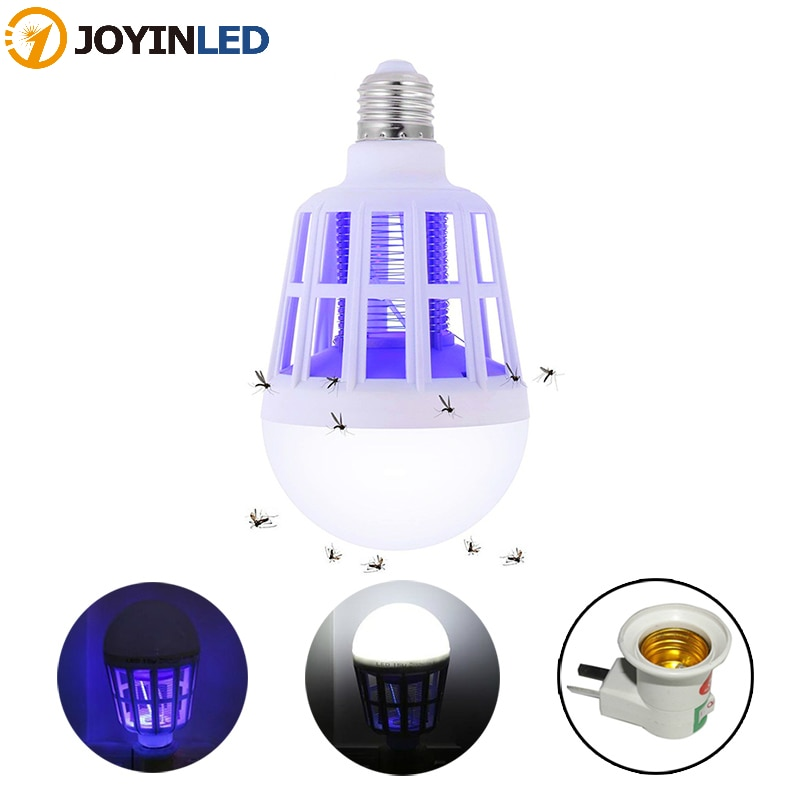 220V E27 UV LED Bulb 15W Mosquito Killer Lamp 2 In 1 Trap Insect Light Fly Bug Zapper Night For Baby