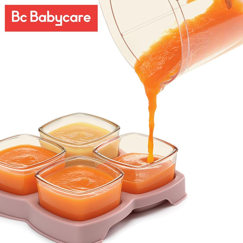 BC Babycare, 4 упаковки, детская стеклянная дополнительная пищевая коробка, детские пищевые добавки, коробки, Детская коробка для хранения еды дл...