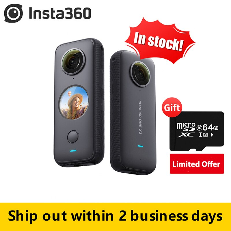 aliexpress.com - Insta360 One X2 360 Action Camera 5.7K VR Video 10M Waterproof Insta 360 One X2 Pocket Panorama Underwater Helmet Pro Sport Cam