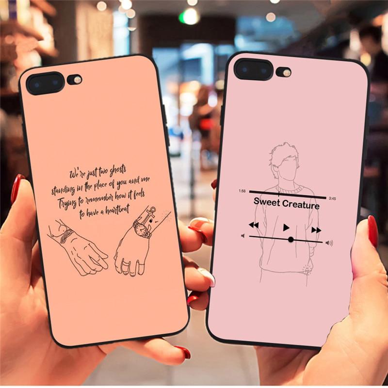 Harry Styles dulce criatura funda para iPhone x XR XS Max 8 7 6 6s Plus 5S para Samsung Galaxy s8 s9 más s7 borde casos de teléfono