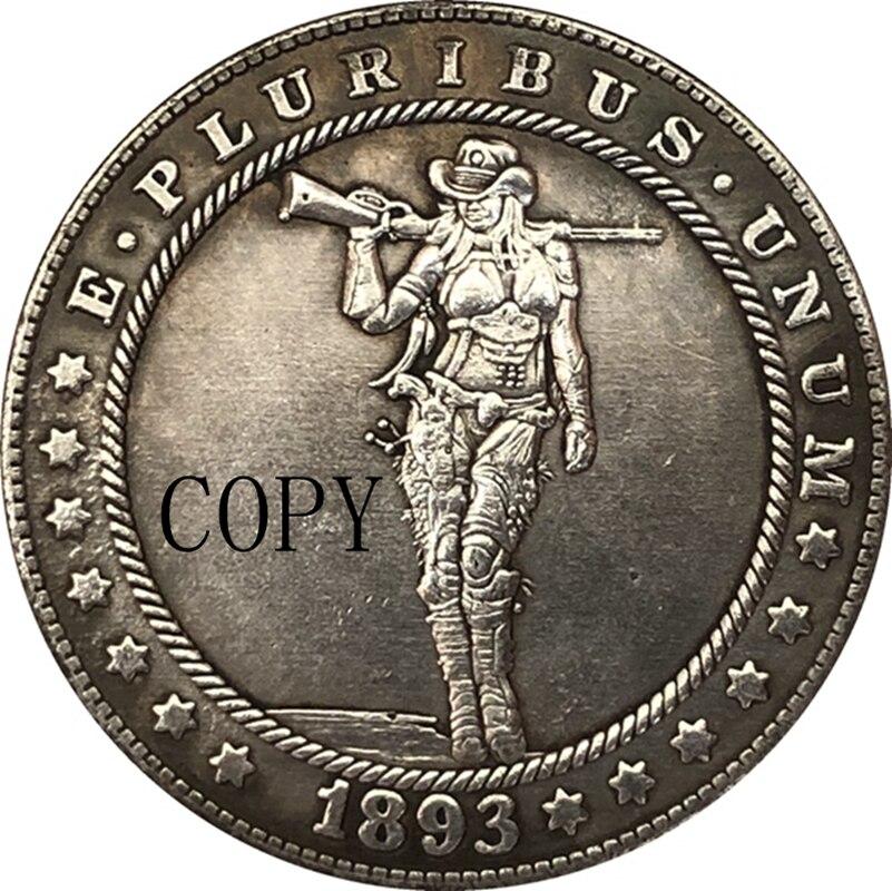 Хобо никель 1893-S сша Морган доллар Монета КОПИЯ Тип 199