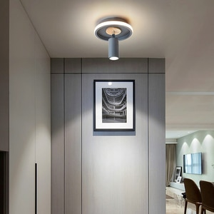 Modern Minimalist Led Aisle Ceiling Lamp for Living Room Background Wall Cloakroom Corridor Hallway Wooden and iron spotlight
