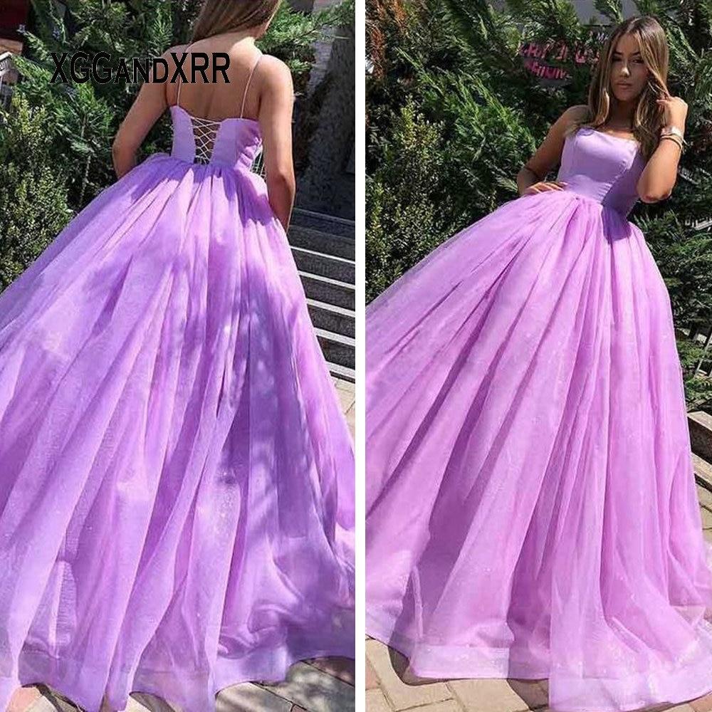 Vestido de baile simples quinceanera vestidos 2020 roxo vestido de baile para doce 15 16 festa de aniversário ga la varredura trem mais tamanho formal