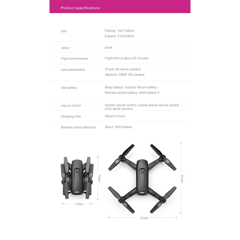 2021New F6 Drone 4K HD Camera GPS  FPV Drones With Follow Me 5G WiFi Optical Flow Foldable RC Quadcopter Professional Dron Toys enlarge