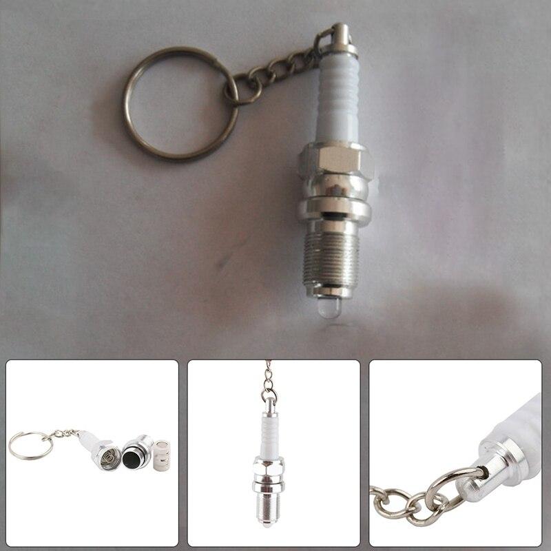 1 шт., повседневный светодиодный брелок для ключей, Свеча зажигания, брелок для ключей, автомобильные запчасти, брелок для автомобиля, интерь...