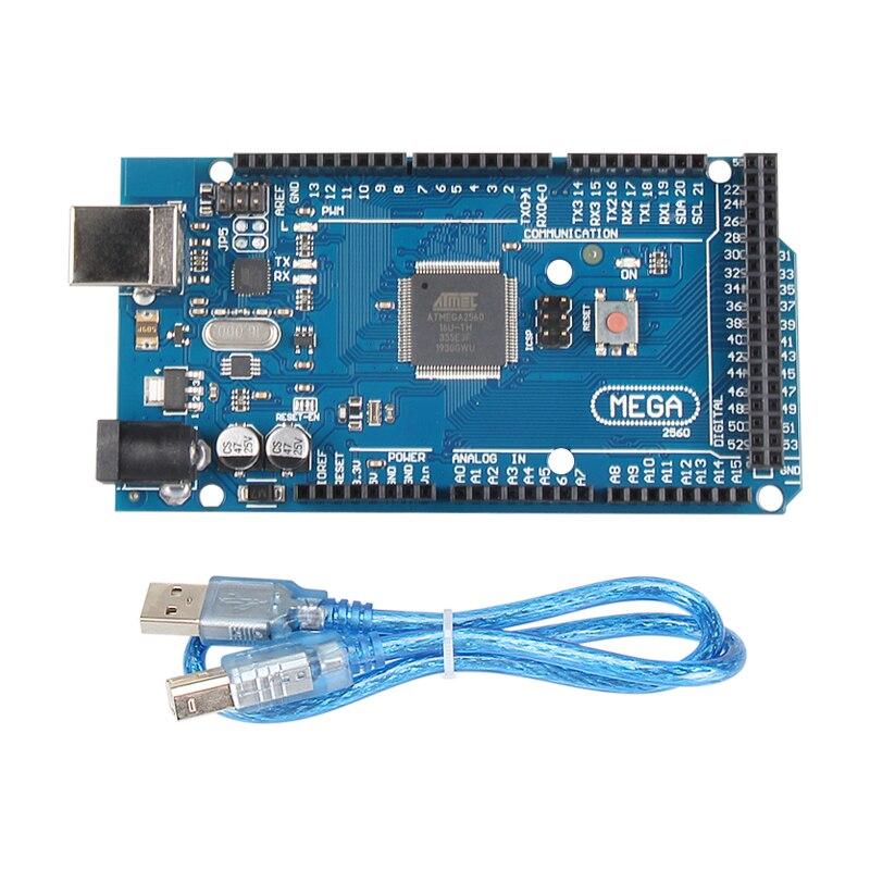 1 مجموعة MEGA2560 ميجا 2560 R3 ATmega2560-16AU CH340G AVR USB مجلس مجلس التنمية MEGA2560 لاردوينو