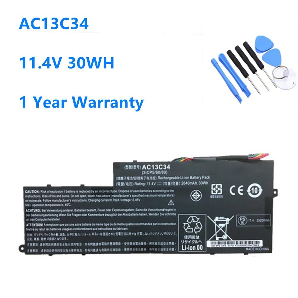 AC13C34 batería del ordenador portátil para Acer Aspire V5-122P V5-132 E3-111 E3-112...