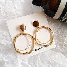 Beautiful Irregular Circle Non Pierced Earrings Geometric Round Earrings for Women