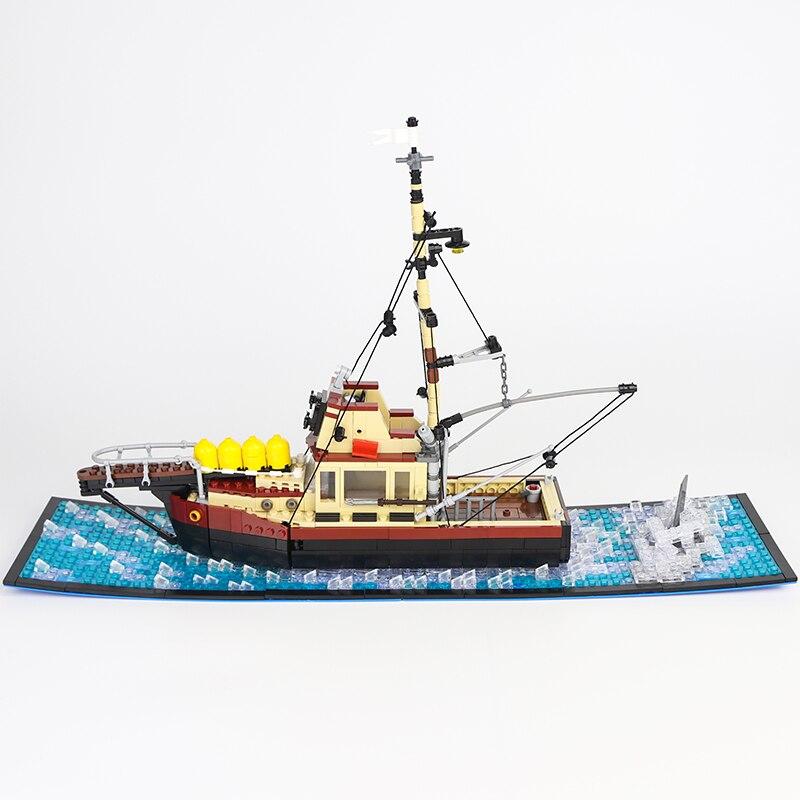 Модель корабля MOC «орка-Челюсти», модель корабля «сделай сам», сборные строительные блоки с бриллиантами, наборы моделей, классический кирп...