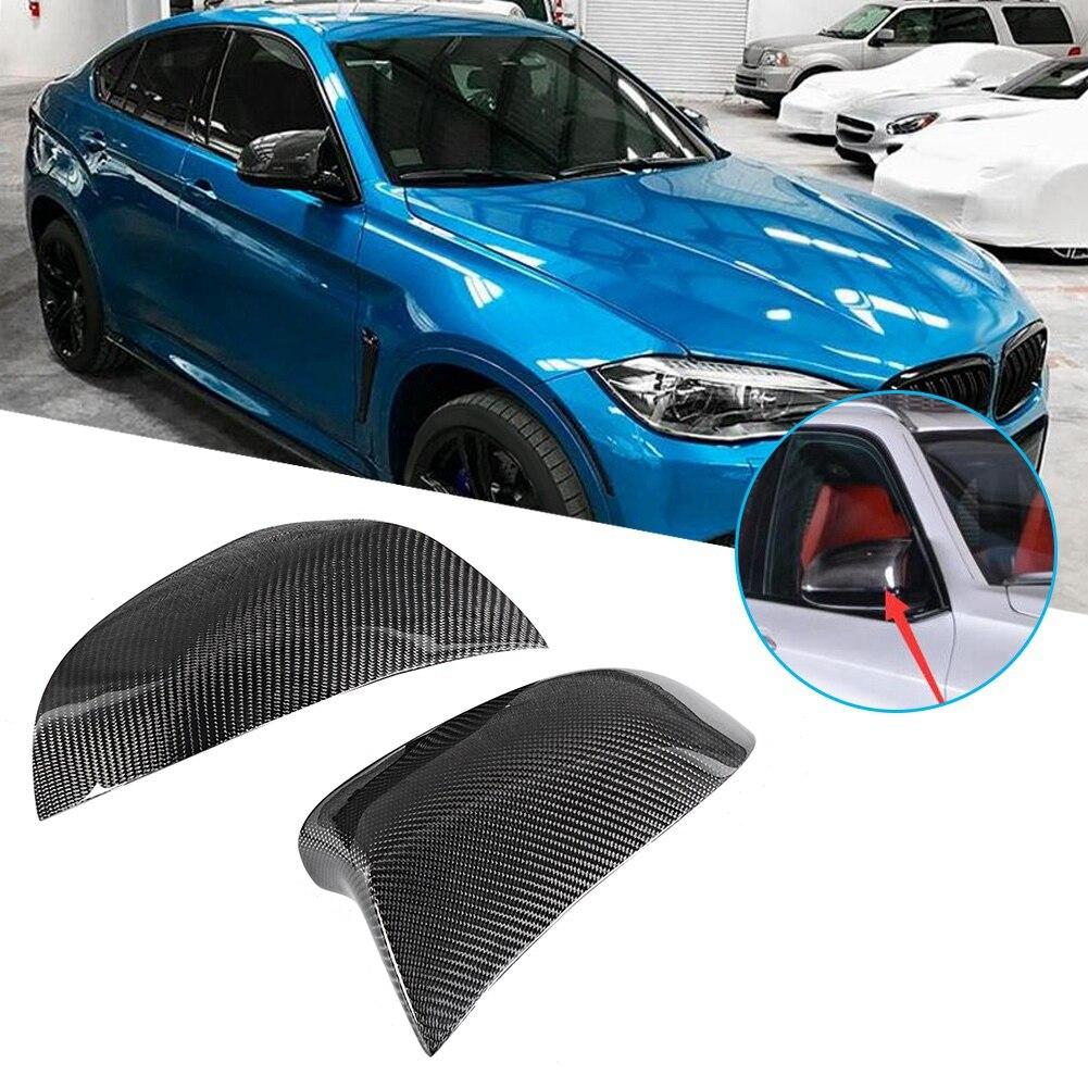 Funda de espejo retrovisor de fibra de carbono para coche, reemplazo de cubierta de espejo retrovisor para BMW, todos los nuevos F15 X5 y F16 X6 para BMW X4 F26 X3 E83