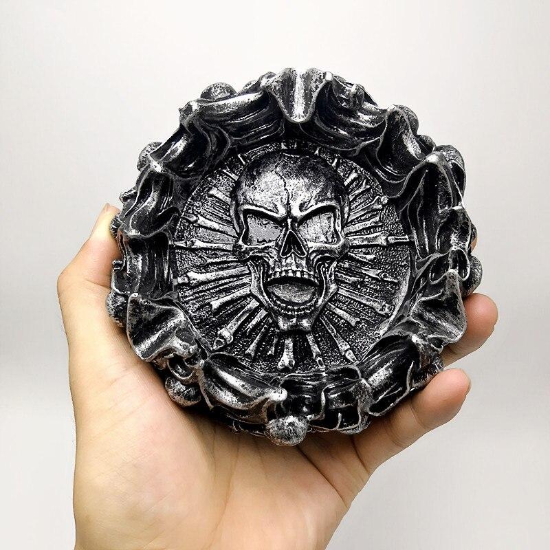 3D molde de silicone criativo chama cinzeiro crânio do Dia Das Bruxas decoração ferramenta para a produção de gesso de concreto de resina molde de silicone