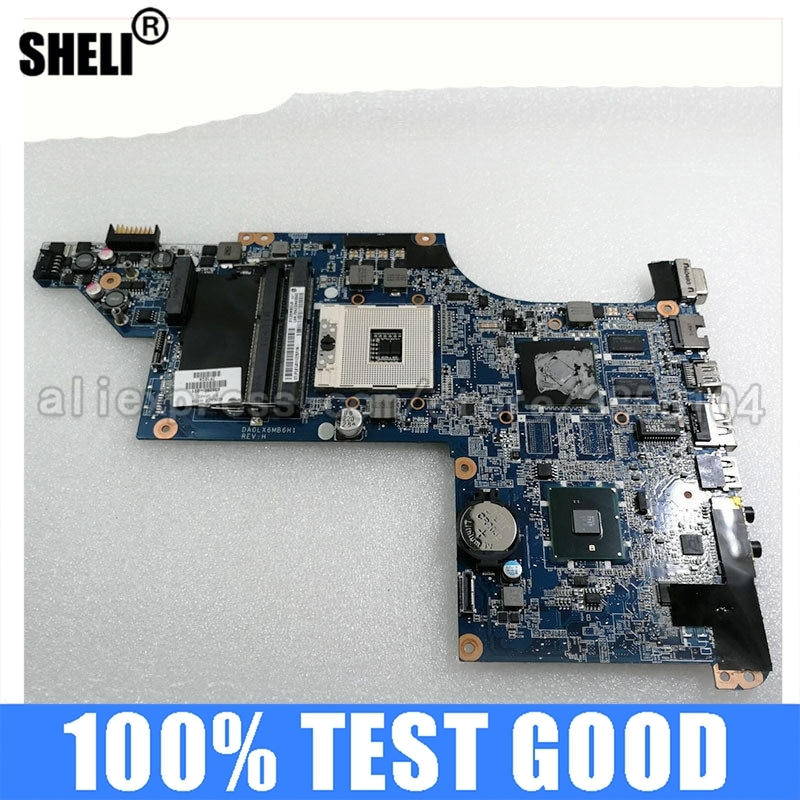 SHELI 630280-001 شحن مجاني اللوحة لابتوب HP DV6 DV6-3000 HM55 بالكامل اختبار اللوحة DA0LX6MB6H1