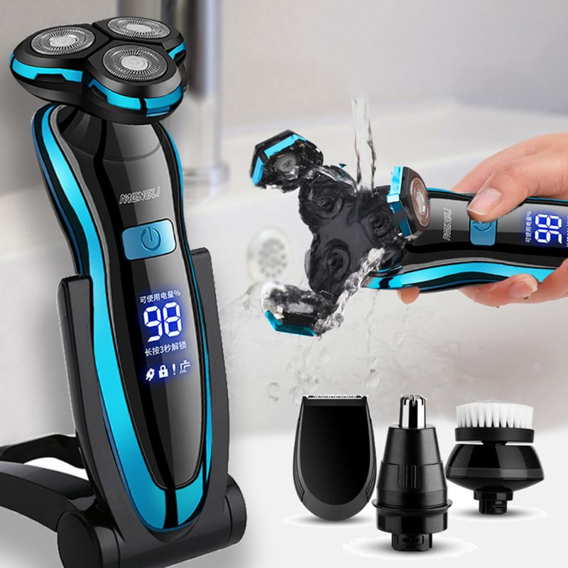 Men Electric Shaver USB Rechargeable Electric Razor Shaving Machine Clipper Beard Trimmer Washable W