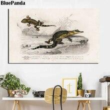 Lagarto cocodrilo tortuga caballito de mar fotos Vida Marina pared arte nórdico arte minimalista pintura casa decoración cartel