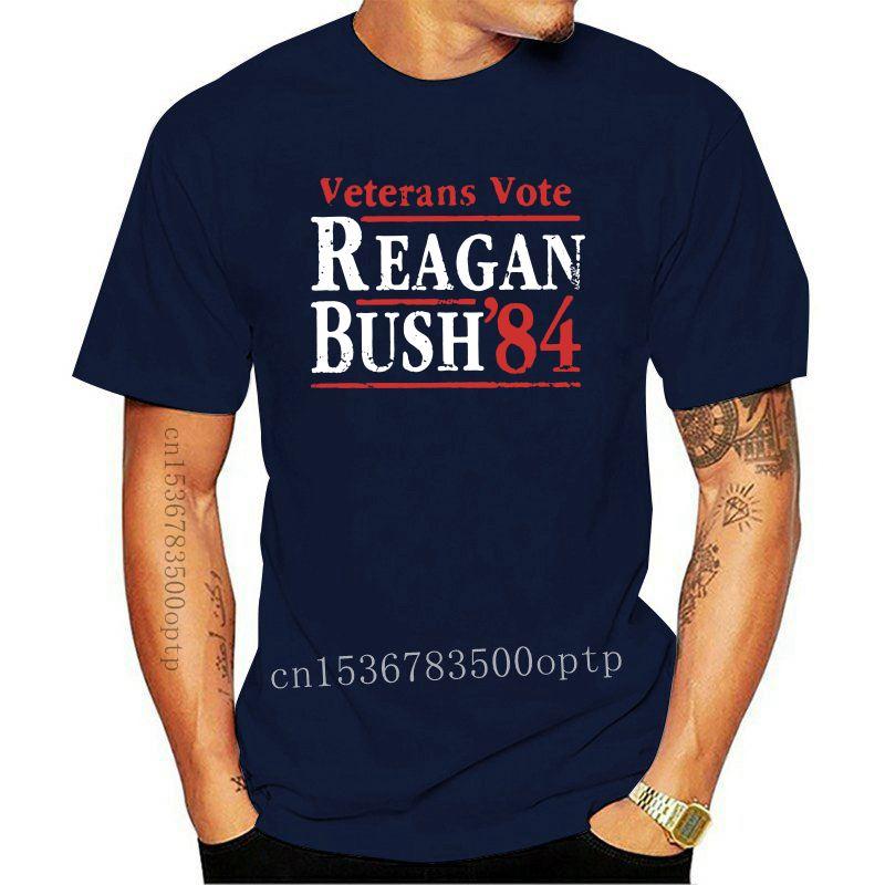 Veterans Vote Reagan Bush 84 Election T Shirt Men Campaign Republican Conservative Gop Clothes Tees 100% Cotton O Neck T-Shirt