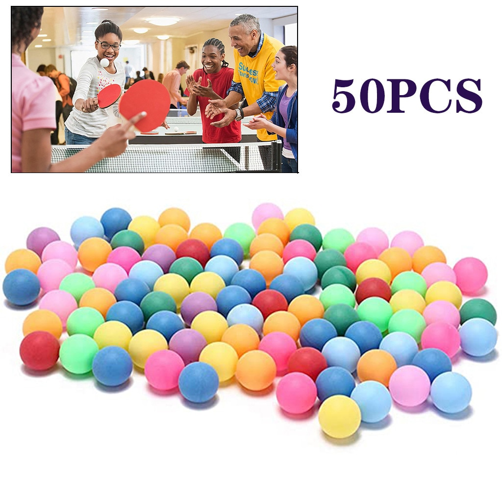 50/25/10Pcs/Pack Colorful Ping Pong Balls Sports 40mm Entertainment Table Tennis Balls Game tenis de