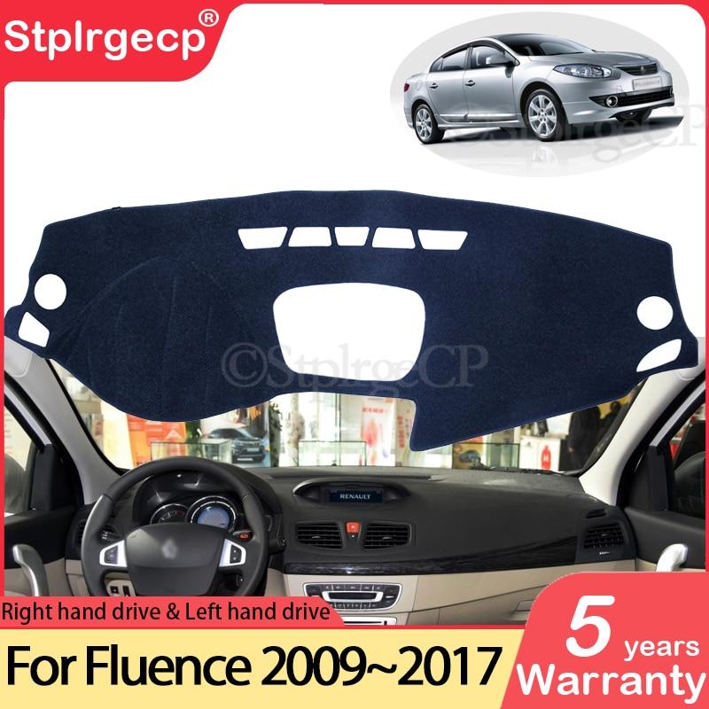 for Renault Fluence 2009~2017 Samsung SM3 Anti-Slip Mat Dashboard Cover Pad Sunshade Dashmat Car Acc