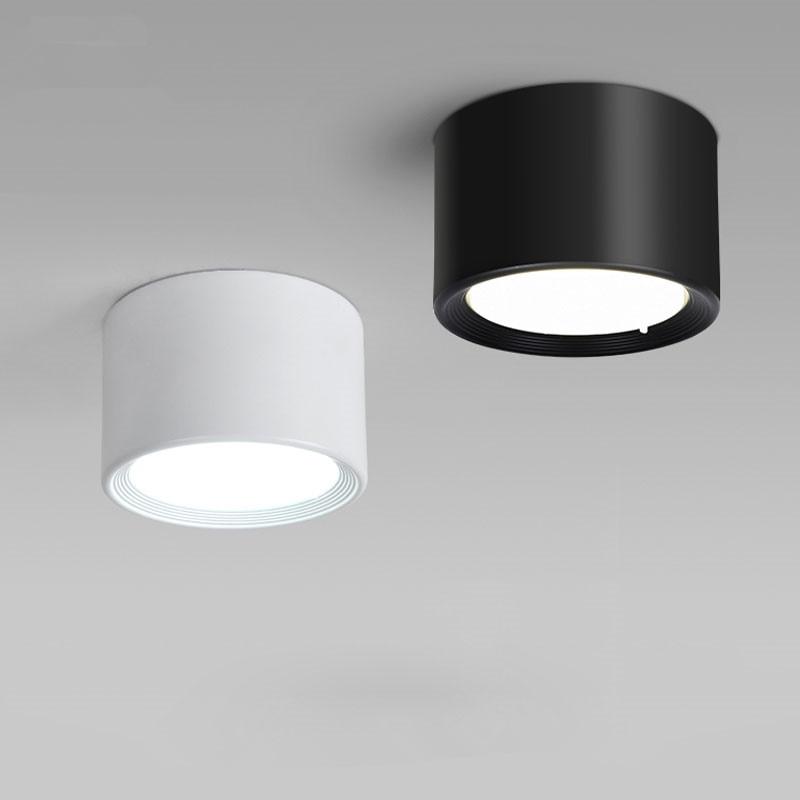 Montado en la superficie 5W 7W 9W 12W 15W LED downlight sin conductor, lámparas de techo led spot luces techo accesorios luz Luz de interior