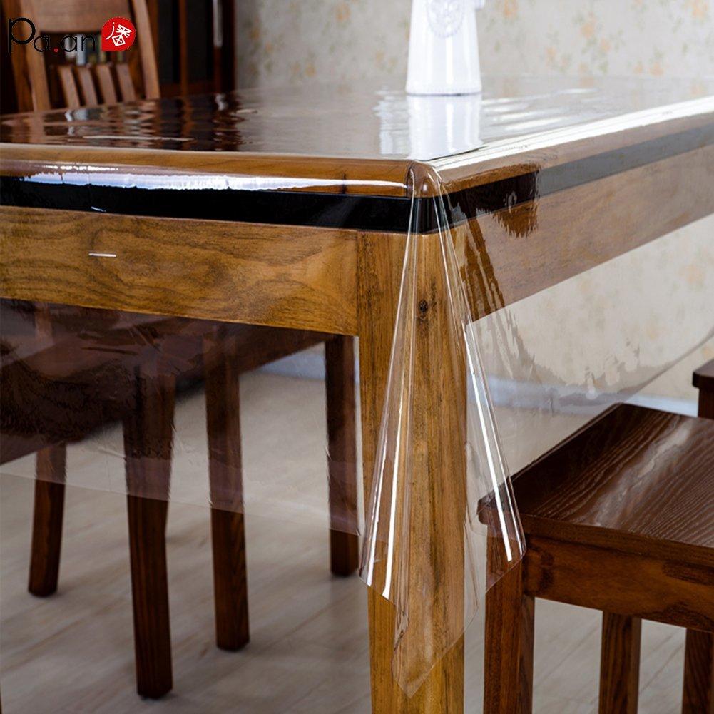 Pa. Un mantel de plástico transparente, mantel de PVC de cristal transparente, cubierta protectora de vidrio suave para Picnic, cocina, mesa de comedor