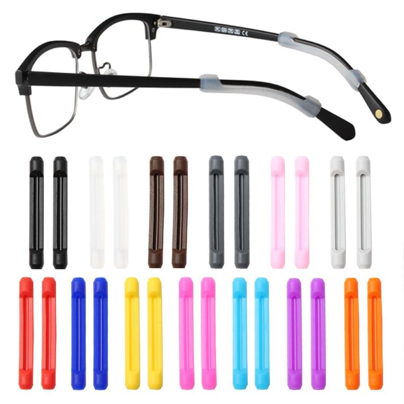 1 par anti deslizamento silicone óculos ganchos de orelha para óculos doces cor alta qualidade esportes macio orelha proteger gancho atacado