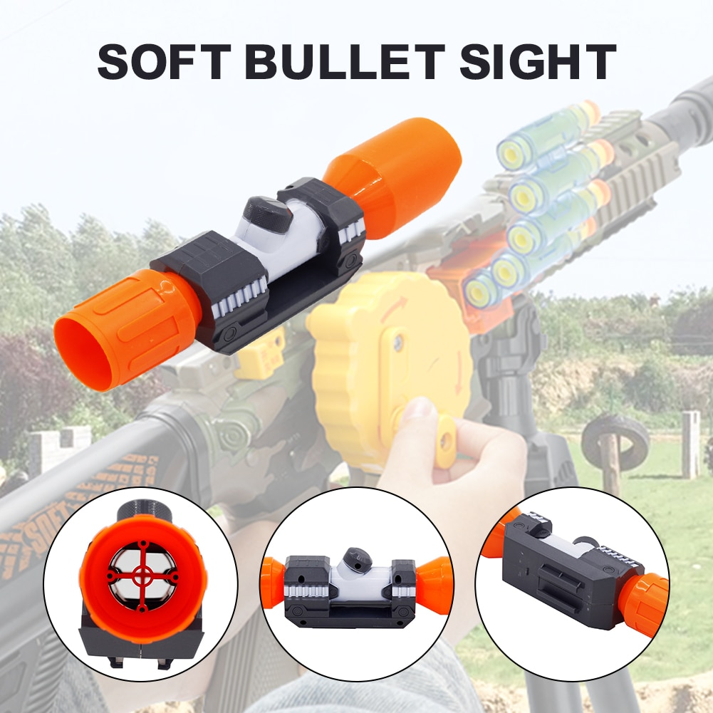 modified part front tube sighting device for nerf elite series orange grey Accessories For Nerf Universal Compatible Soft Bullet Assembly Parts Sniper Gun Elite Sight For Nerf Gun