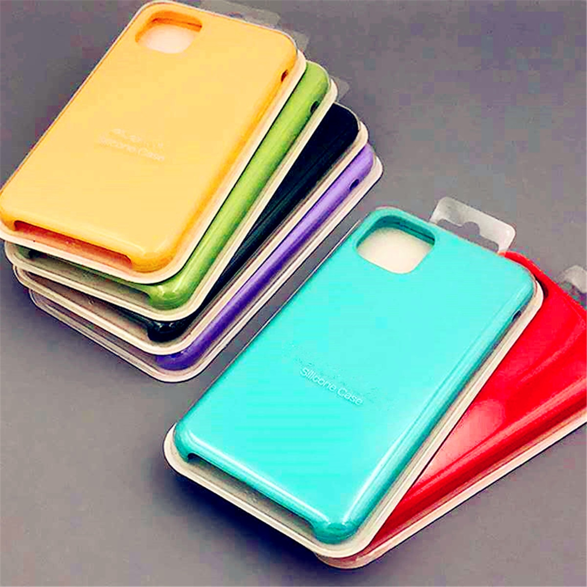 Original Official Silicone Logo Case For iphone 12 11 Pro X XS MAX XR 7 8 6S 6 Plus phone Case Logo