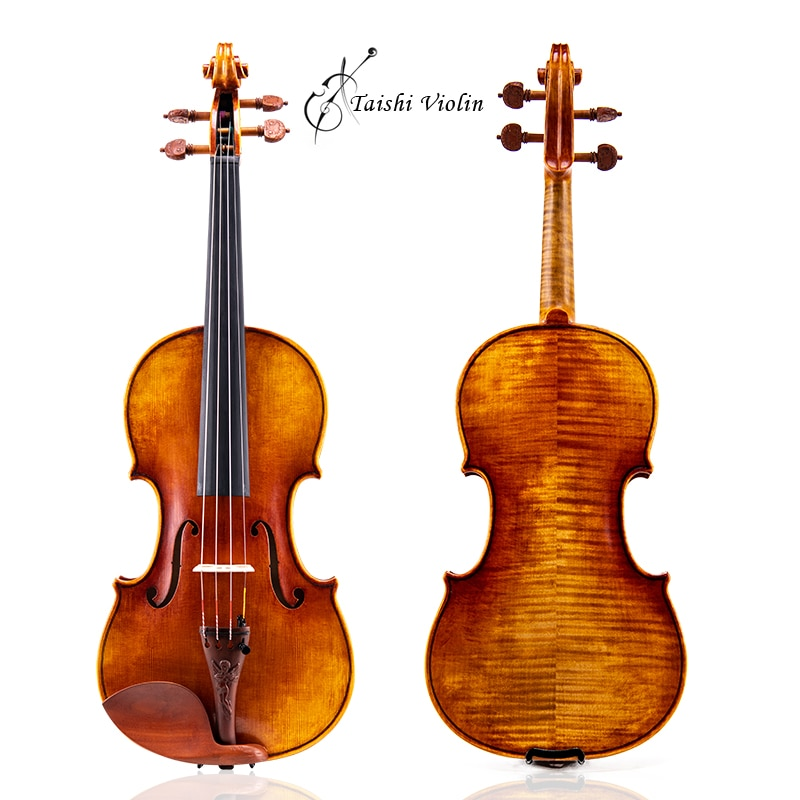 Taishi 40 years old spruce!  Antonio Stradivari Soil violin 4/4 violino copy, all European wood, Free shipping