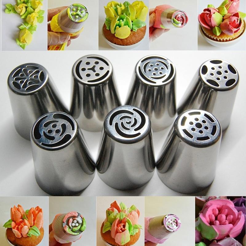 Boquillas para glaseado CellDeal, boquillas de acero inoxidable para crema de flores, boquillas para repostería, bolsa, herramientas para decorar pasteles y magdalenas