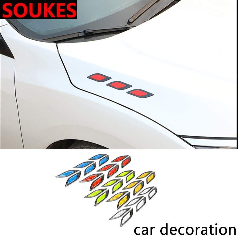 6 uds. Reflectantes pegatinas de advertencia de seguridad para Nissan Qashqai Opel Astra J H G Skoda Octavia A7 2 Volvo XC90 V70 Subaru