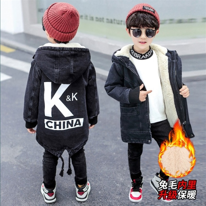 Jacket for Boys 2020 New Hooded Winter Jackets Fashion Warm Parkas For Teenagers Boys Thicken Mid-Long Coat Kids Clothes enlarge