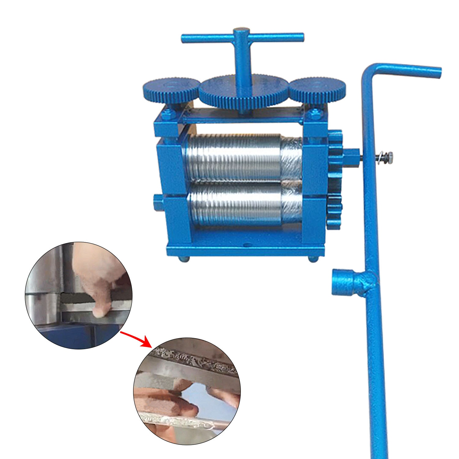 Extended Hand Jewelry Rolling Tablet Press Machine Manual Wire Pressing Machine Manual Steel Plate Small Pressing Strip