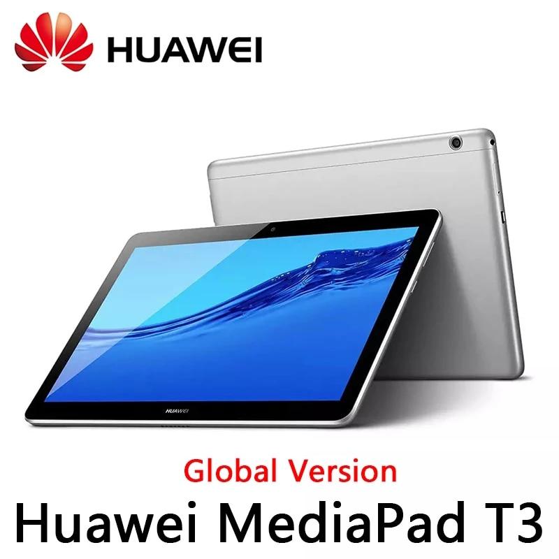 Medi- mediapad t3 10 com 2gb ram e 32gb rom. versão global, tablet/pc com snapdragon octa-core, tela de 9.6 polegadas, android 7, 1280*800.