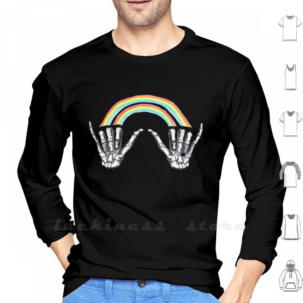 Camiseta de manga larga Louis Tomlinson con doble arco iris en una dirección