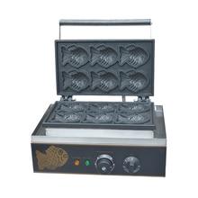110V 220V 6 pièces poisson gâteaux Machine commerciale électrique poisson en forme de gâteau Machine crème glacée Taiyaki gaufrier EU/US/AU/BS Plug