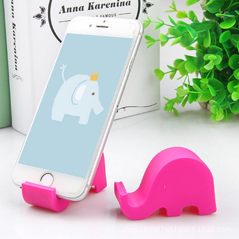 Suporte do telefone preguiçoso elefante suporte acessórios de mesa elefante telefone celular suporte para iphone samsung xiaomi huawei telefone